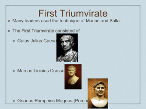 Julius Caesar POWERPOINT - Warren County Public Schools
