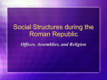 Social Order during the Republic