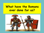 What have the Romans ever done for us? Calendar