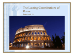 The Lasting Contributions of Rome