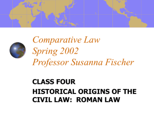 Comparative Law Class 4