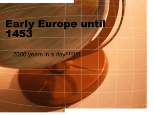 Early Europe until 1453