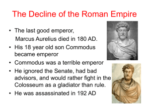 The Decline of the Roman Empire