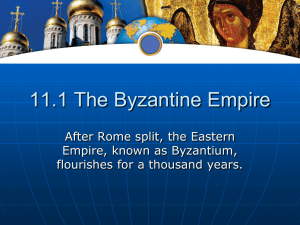 11.1 The Byzantine Empire - Doral Academy Preparatory