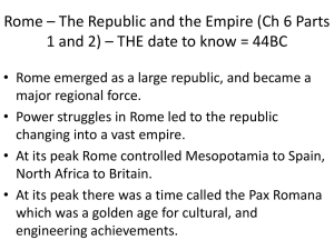 Rome Notes Ch 6 parts 1 and 2