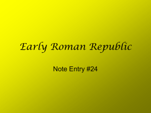 Early Roman Republic