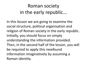 Roman society - CLIO History Journal