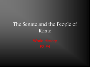 The Senate and the People of Rome - HFAWorldHistory-Kos