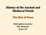 Rise of Rome - Walsingham Academy
