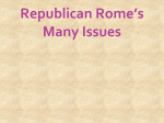 Roman Republic`s Problems