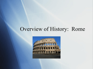 Overview of History: Rome