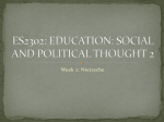 ES2302: EDUCATION: SOCIAL AND POLITICAL THOUGHT 2