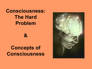 Consciousness: The Hard Problem