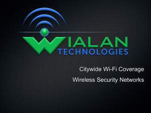 WIALAN TECHNOLOGIES - The Performance Center