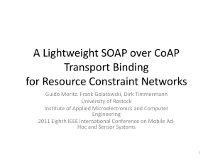 A CoAP based SOAP Transport Binding
