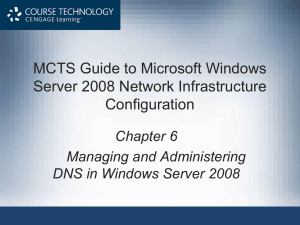 Managing and Administering DNS in Windows Server 2008