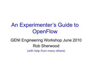 An Experimenter`s Guide to OpenFlow