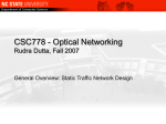 General Background - Network Design