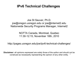 IPv6 Technical Challenges