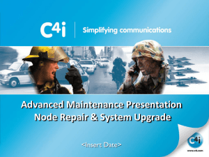 SwitchPlusIP Advanced Maintenance Training Presentation