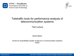 Teletraffic tools for performance analysis