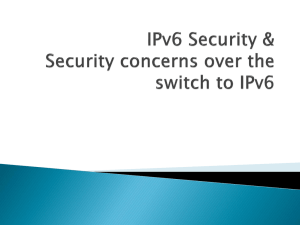 IPv6Security - Personal.kent.edu