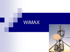 WiMAX Protocol - London South Bank University