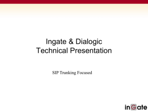 Ingate Firewall & SIParator Training