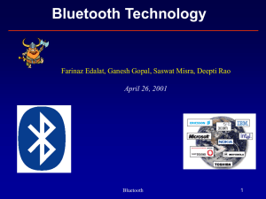 Networking over Bluetooth: overview and issues