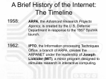 A Brief History of the Internet: The Timeline