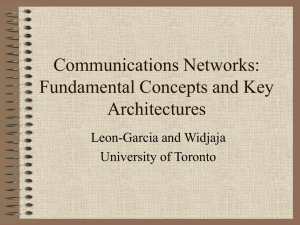 Communications Networks: Fundamental Concepts and Key