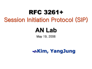 RFC 3261+ Session Initiation Protocol (SIP)