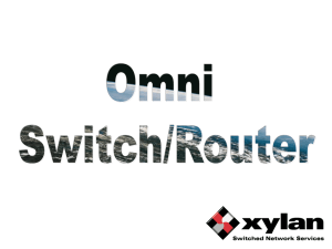 Omni Switch/Router Sales presentation