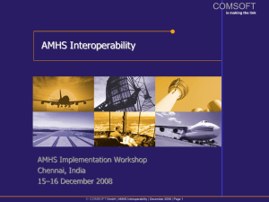AMHS Connectivity - Airports Authority of India