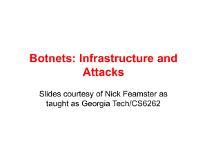 Botnets: Infrastructure and Attacks