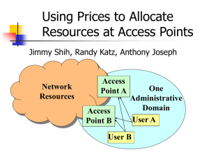 Design Review of Using Prices to Allocate Resources at a H