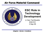 ESC Role in Technology Development