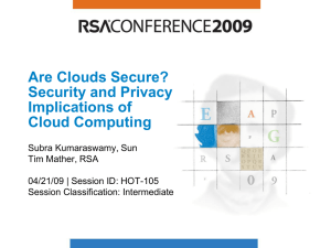 Are Clouds Secure?