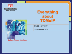 TDMoIP - dspcsp