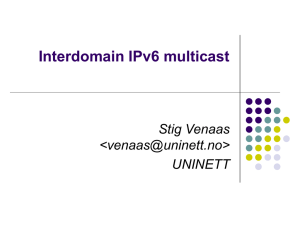 Interdomain IPv6 multicast