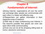 Chapter 8 Fundamentals of Internet