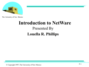 Netware - The University of New Mexico