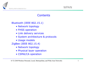Lecture 2: WPAN