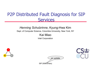 Distributed Self Fault-Diagnosis for SIP Multimedia