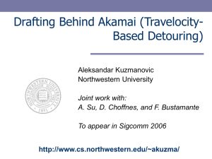 Drafting Behind Akamai - Northwestern University