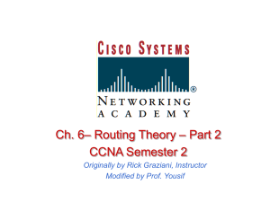 Routing Theory Part 2