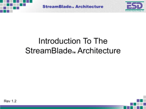StreamBladeTM - Embedded Systems Design, Inc.