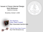 Clean Slate Design for the Internet