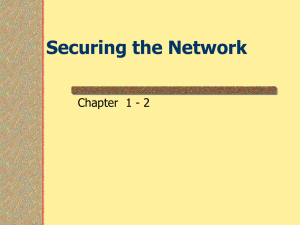 Securing the Network - Austin Community College