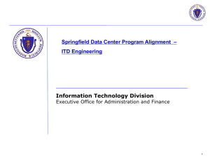 Springfield Data Center Program Alignment